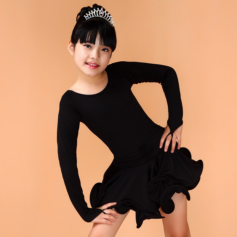 Aliexpress.com   Buy Girls Long Sleeves Latin Dance Dress Childrens Fancy  Dress Kids Plus Size Ballroom Dance Wear Salsa Tango Rumba Cha Cha Costume  from ... cc989b4927ce