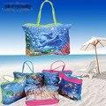 Новые приходят горячие продажи большой емкости красочные фото красивых женщин сумки случайные пляжная сумка торговый сумка для леди
