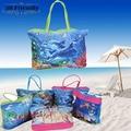 Chegam novas de venda quente de grande capacidade colorido foto bonita bolsa saco de compras saco de praia ocasional das mulheres para a senhora