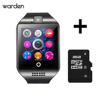 HolidayFree Shipping New Q18 Passometer Smart Watch With Touch Screen Camera TF Card Bluetooth Smartwatch For