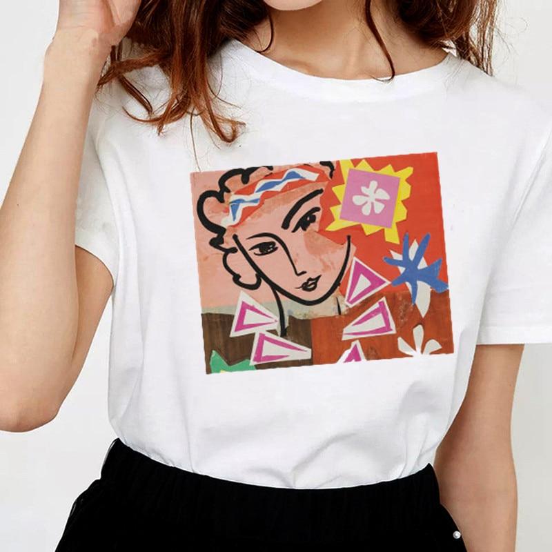 Женская одежда Harajuku уличная Kawaii Эстетическая футболка Графические футболки для женщин 90 s готические корейские Топы Плюс Размер