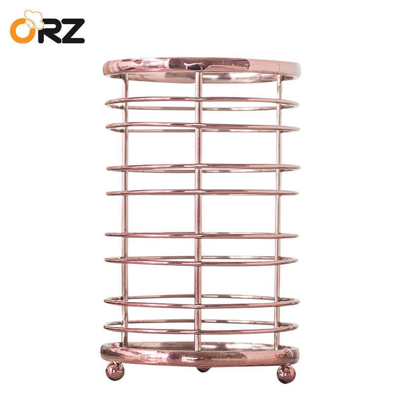 ORZ tubo vajilla palillos contenedor de almacenamiento cubiertos utensilios  de cocina Holder drenaje vajilla caja de b6ba092e5598