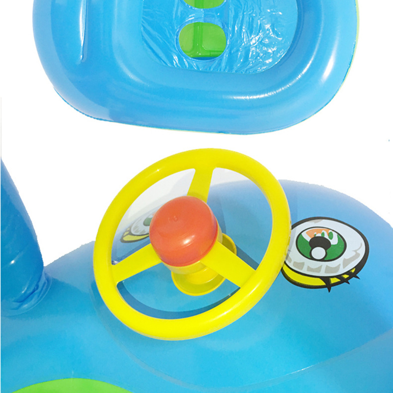 Baby Float Seat Car Sun Shade Baby Swim Inflatable Donut Ring ...