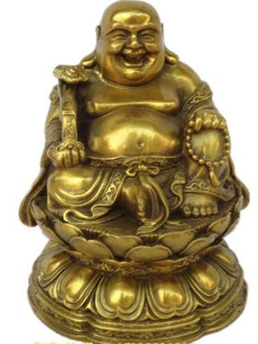 China very good brass maitreya Buddha statue Sit the lotusChina very good brass maitreya Buddha statue Sit the lotus
