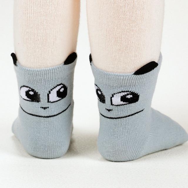 Baby Floor Socks Cartoon Big Eye Baby Floor Sock Anti Skid