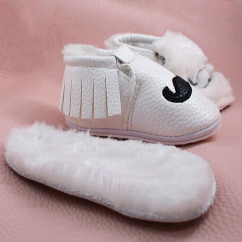 a28b243c6c5 Baby Moccasins Infant Rubber Soft Moccs Shoes Bebe First walkers Fringe  Soled Non-slip Footwear Crib Shoes PU Leather