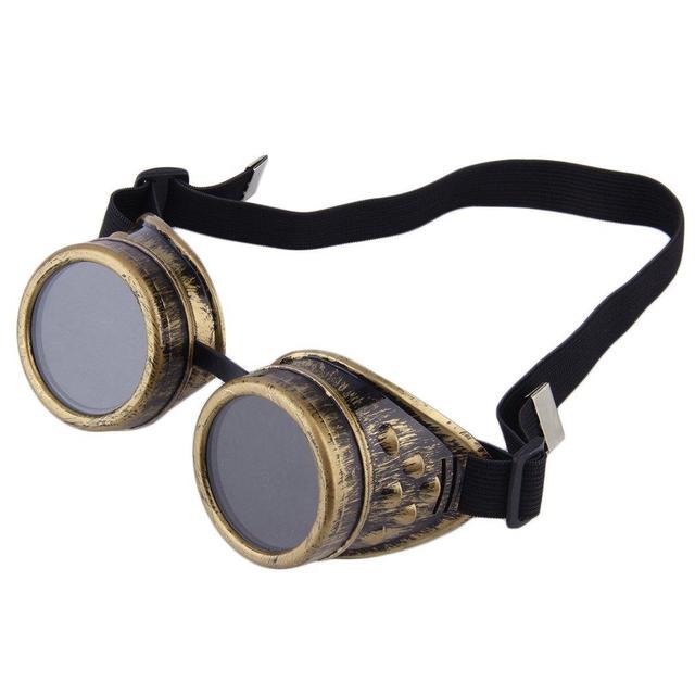 e8e3f2a0e6 Gafas Steampunk gafas Vintage Retro soldadura Punk gótico gafas de sol de  dibujos animados moda Retro