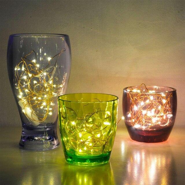 20 Micro étoilé lampes à fil de cuivre LED, CR2032 batterie Invisible luciole bande décoration mariage Costume maison artisanat