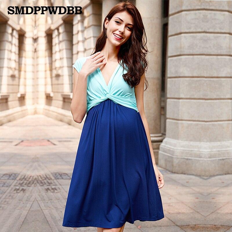 Smdppwdbb Maternity Dresses Nursing Dress Breastfeeding Pregnancy Dress For Pregnant -8865