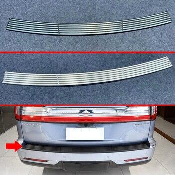 Für Lincoln Navigator 2018 2019 2020 edelstahl stoßstange hinten schutz fenster sill außerhalb badehose dekorative platte pedal
