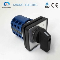 Electrical Changeover Switch 3 Position 3 Phase 25A Silver Contact Rotary Cam Universal Switch TUV Approved