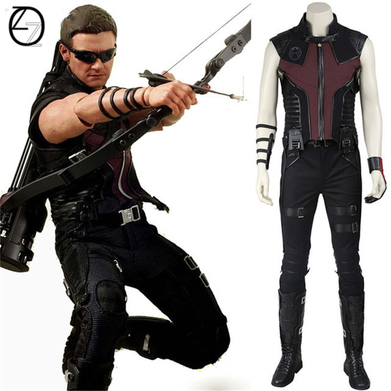 Hawkeye Cospaly Costume Marvel's The Avenger Hawkeye Costume Cosplay Superhero Clint Barton Battle Suit Halloween Party Cosplay