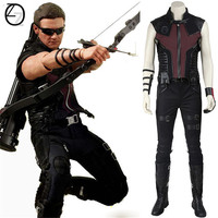 Hawkeye Cospaly Costume Marvel's The Avengers Hawkeye Costume Cosplay Superhero Clint Barton Battle Suit Halloween Party Cosplay
