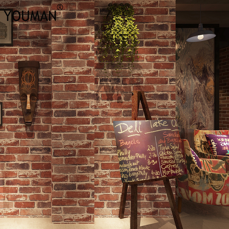 Brick wallpaper 3d Suppliers High Quality 3d brick wallpaper stone wall paper faux brick wallpaper 3d Living Room Sofa wallpaper in Wallpapers from Home Improvement
