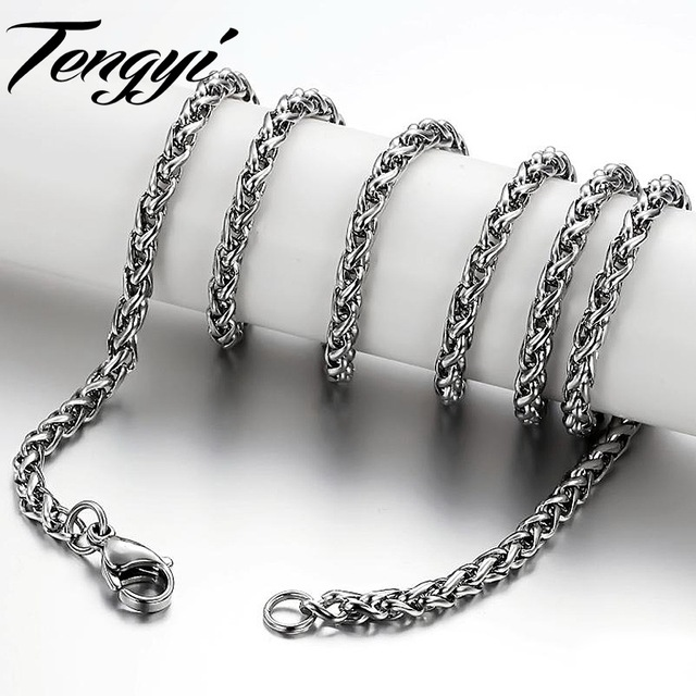 steel chain stainless franco mens chains necklace