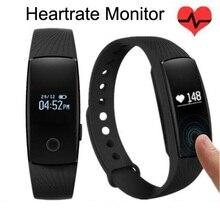 Caliente ID107 Smartband ID 107 Inteligente Bluetooth Monitor de Ritmo Cardíaco Reloj Del Deporte Pulsera de Silicona de la Frecuencia Cardíaca Con Rastreador
