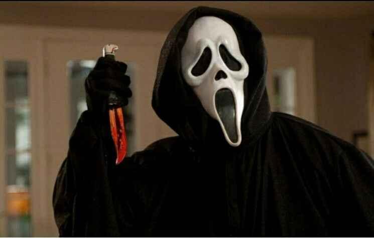 Страшный крик черный белый маска для призраков ужас Хэллоуин Костюм призрак полное лицо Косплей Забавный взрослый аксессуар