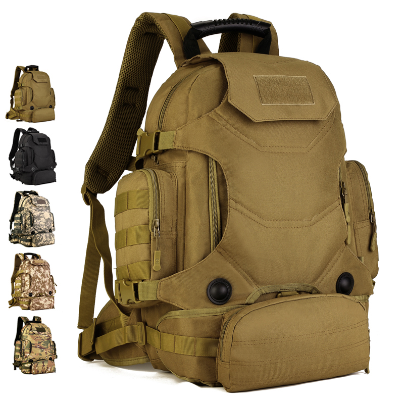 New Men Durable Nylon Riding Travel Daypack Backpack Designer Military Assault Molle Multipurpose Waterproof Rucksack Waist Bag 35l tactics nylon double shoulder bag outdoors backpack waterproof mountaineering travel bag man riding assault bac for men