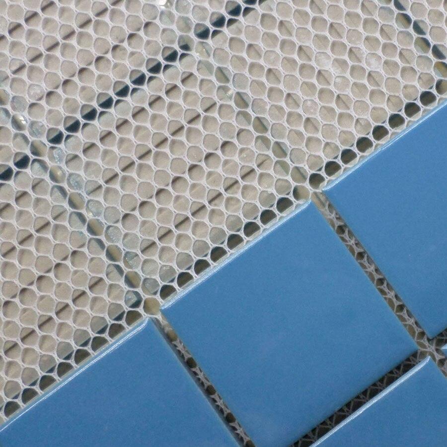 classical blue ceramic mosaic tile kitchen backsplash tile bathroom ...