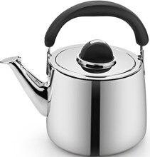 Estufa #304 caldera de acero inoxidable silbando hervidor de agua 0.8mm de espesor olla de agua 3/4/5/6 LITROS de agua jarra alta calidad regalo de La Madre