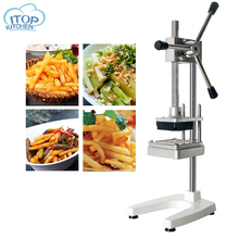 Vertical Manual Fries Cutter Potato Chipper Carrot Vegetable Slicer Fries Maker Commercial Kitchen Cooking Cutting Machine недорго, оригинальная цена