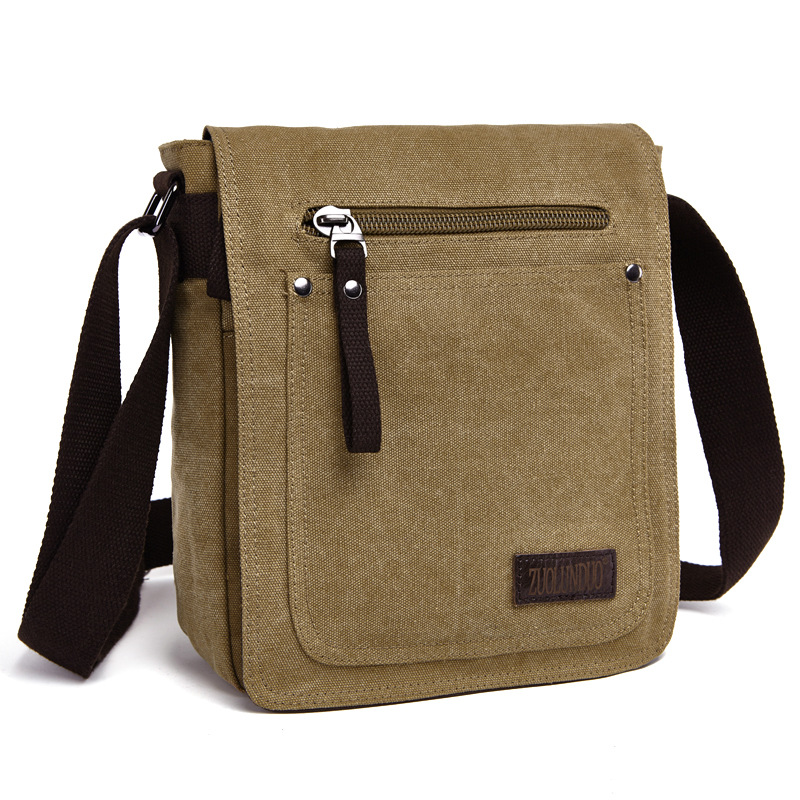 Hot! New Arrive Men Canvas Bag Vintage Messenger Bag Brand Business Casual Travel Shoulder Bag Men Crossbody Bag Male Bolsa B24