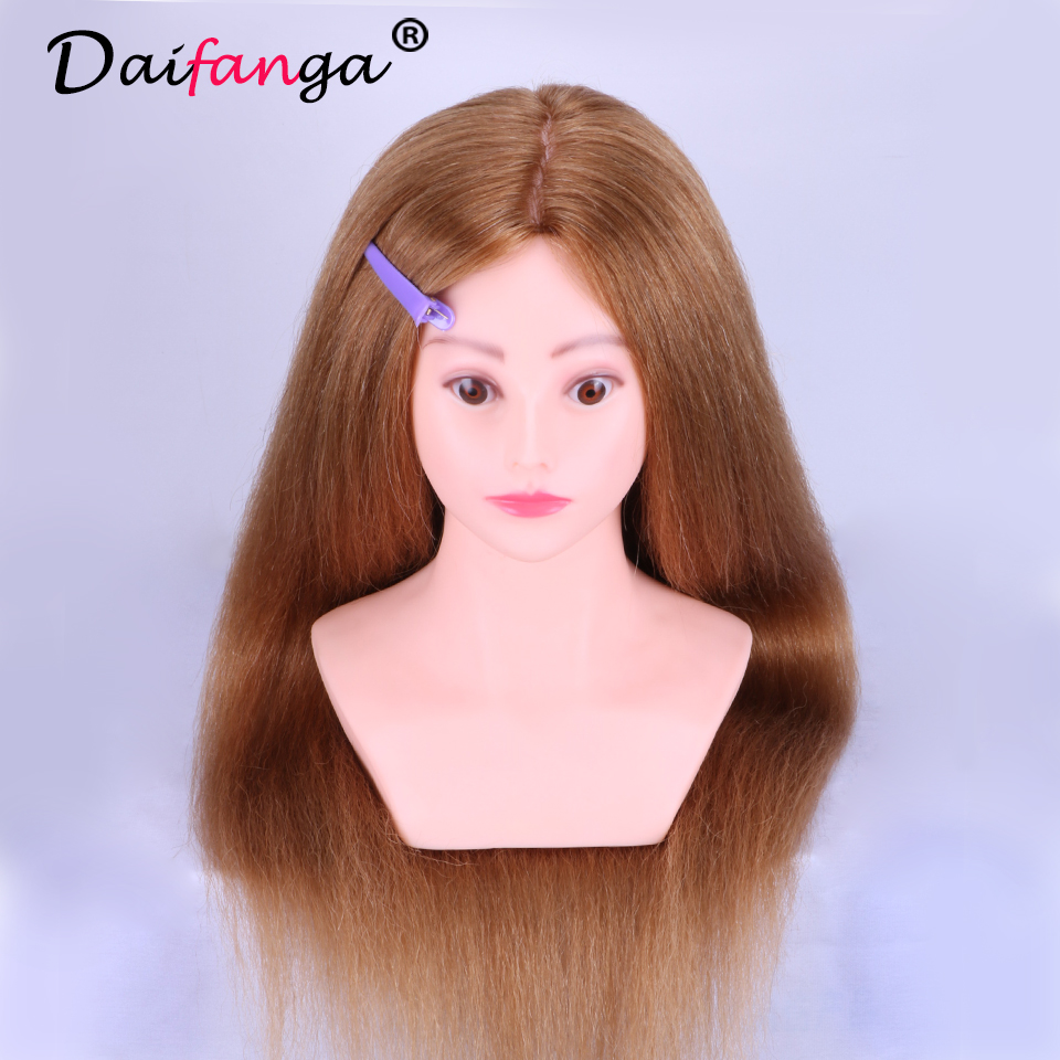 2017 New Mannequin Head Hair Training Head Maniqui Hairdressing Doll Heads Hairdresser Manikin Sale With Shoulder
