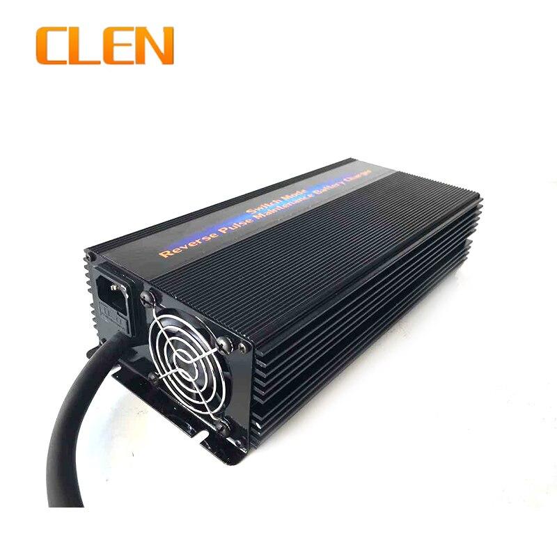 24В 35А автомобильное зарядное устройство для батареи высокочастотное свинцово Кислотное зарядное устройство для обратного импульса десуль... - 1