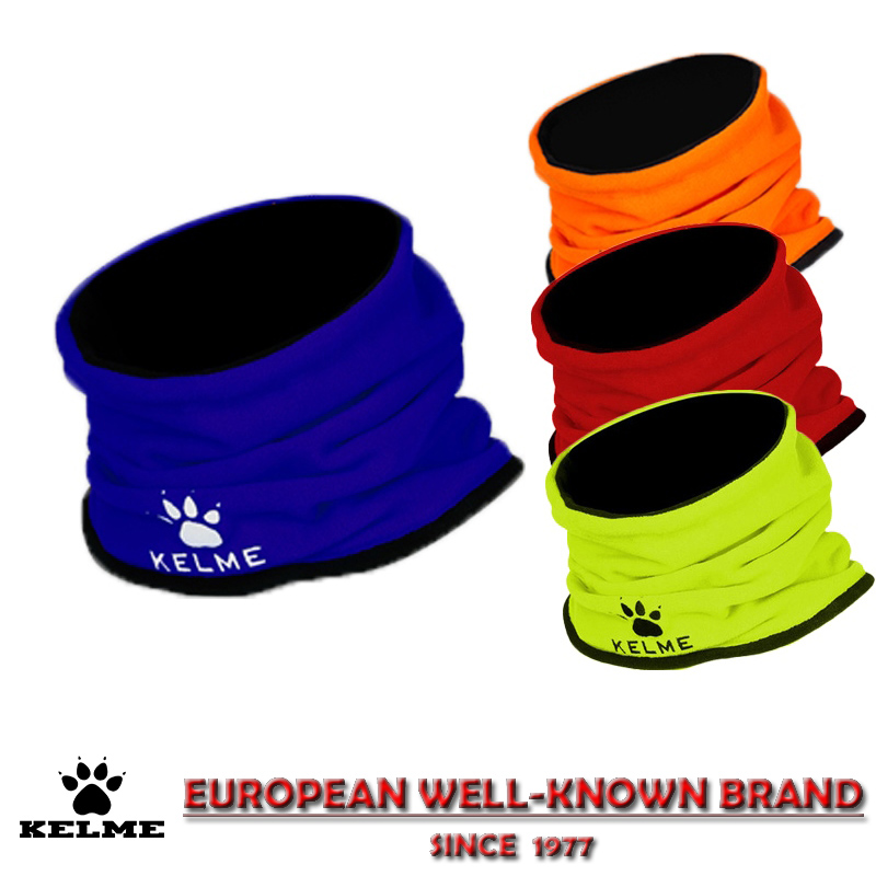 KELME Thermal Fleece Scarfs Soccer Men Training Mask Neck Collar Circle Winter Warm Sports Wind Face Protection