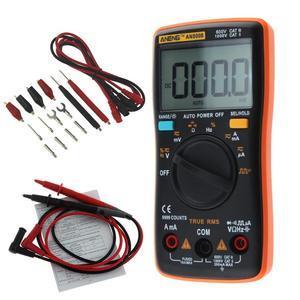AN8008 AN8009 Auto Range Digital Multimeter 9999 counts AC/DC Ammeter Voltmeter Ohm Transistor Power multi meter Test(China)