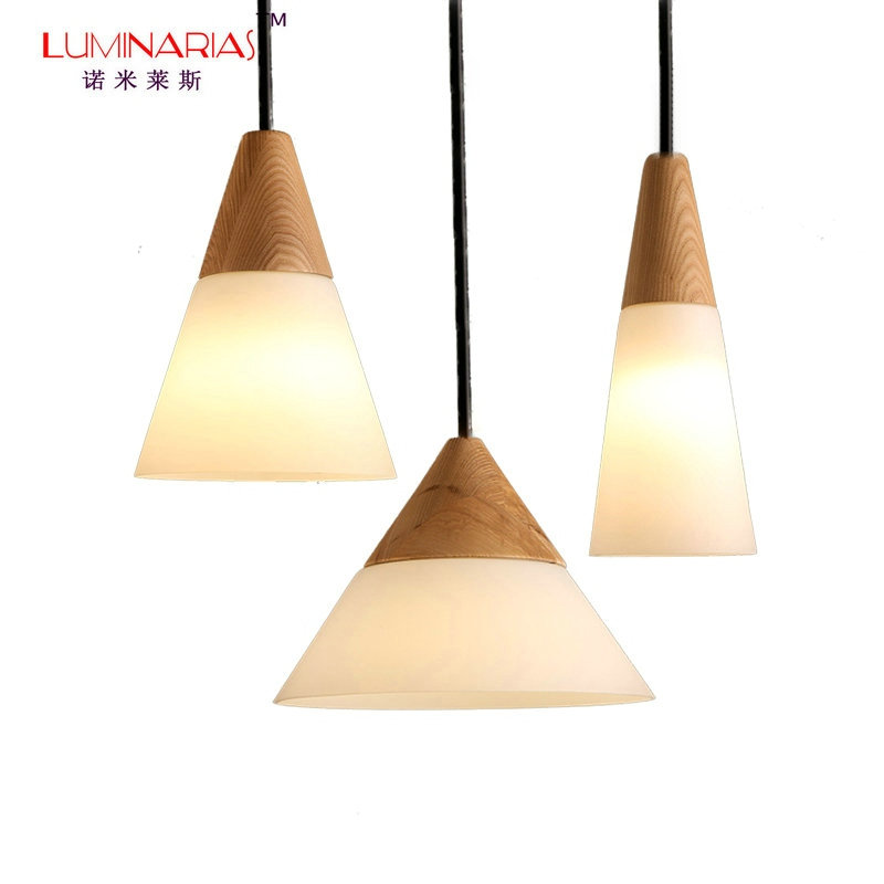 все цены на [TIANSHENG] Nordic Home Wood Glass Shade Pendant Lamp Dinning Room Pendant Light Living Room Bed Room lighting Cafe bar Light