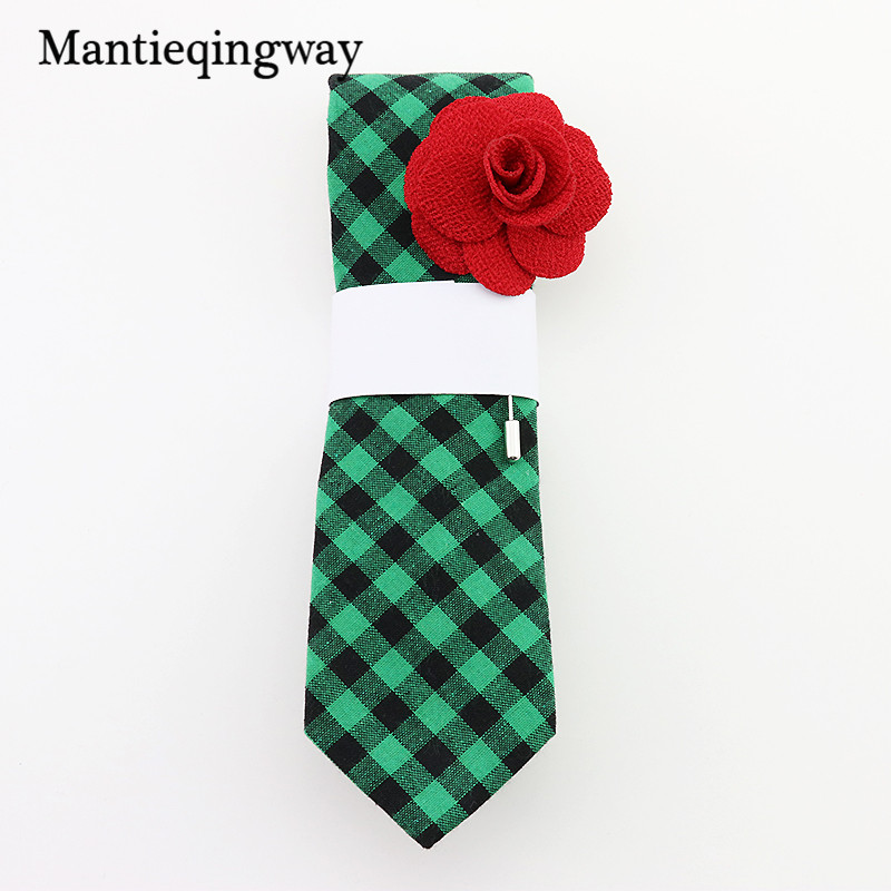 Mantieqingway 6cm Moda cravatte Slim Gravatas Black Skinny Tie cravatte in cotone per uomo Wedding Business a strisce e Plaid Bow Tie