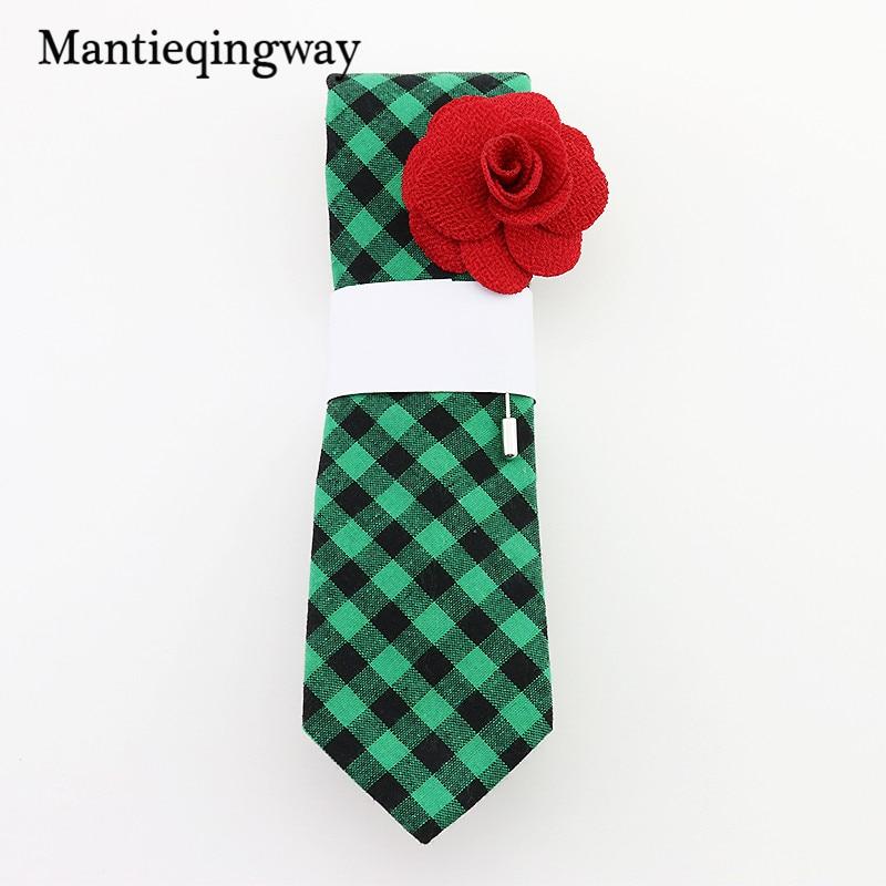 Mantieqingway 6 cm Corbatas de moda Slim Gravatas Negro Corbata de algodón delgado Corbatas para hombres Boda Negocios Rayas y a cuadros Corbata de lazo