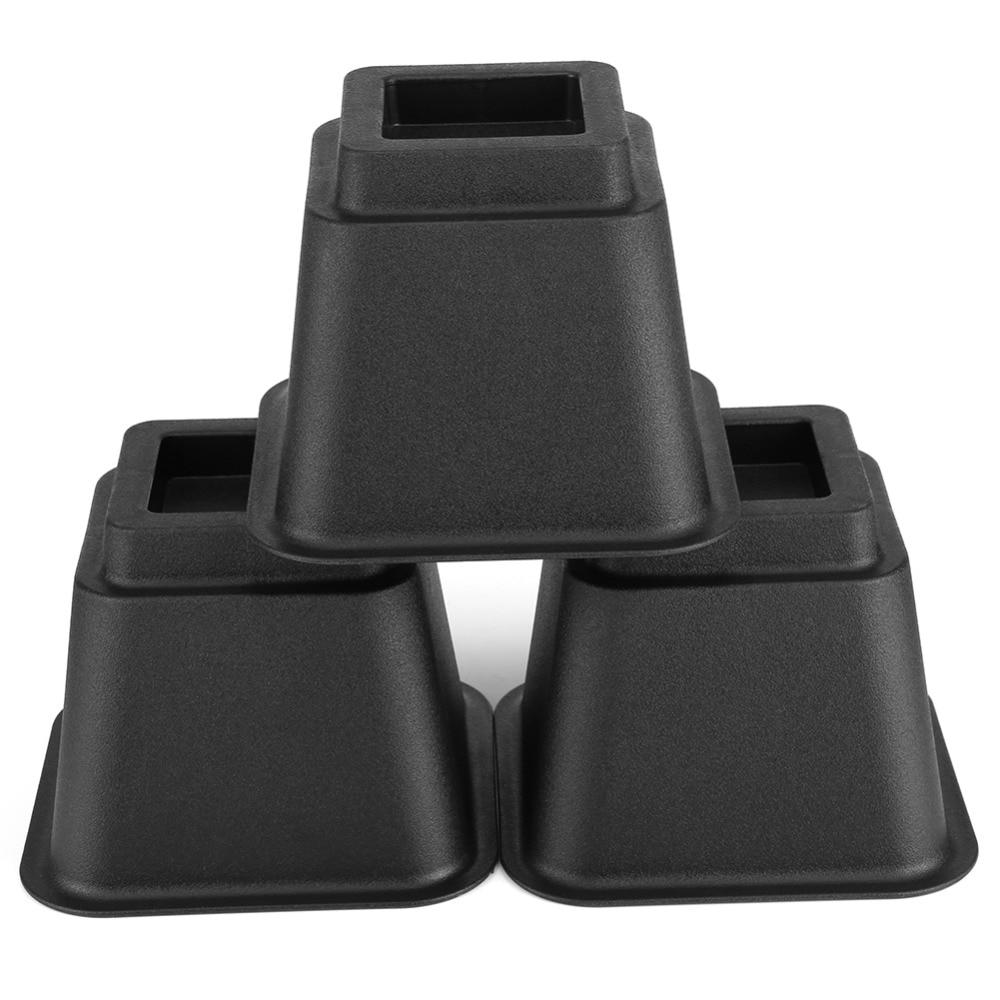8Pcs/Set Furniture Raiser Black Chair Bed Riser Elephant Feet Lift Furniture For Storage Under Bed Extra Raiser Stand