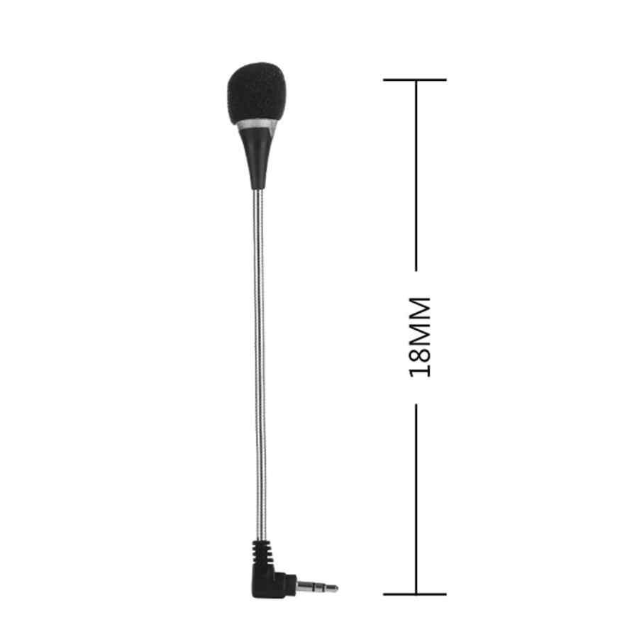 2019 良い販売 3.5 ミリメートルフレキシブルミニマイク用 pc ポッドキャスト skype チャット J21