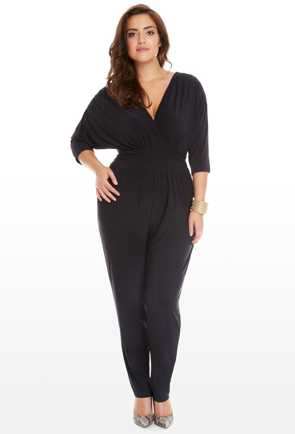 1dc815b45a 2018 long palazzo pants jumpsuit runway tunic plus size loose black fashion  nova solid One Piece long sleeve overalls macacao