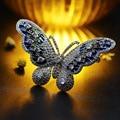 Borboleta colorida do vintage broche claro tom de prata micro pave cz branco e esmaltado pedras cravejado iridescente borboleta broche