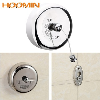 HOOMIN Clothes Drying Rack Rope Home Storage Stainless Steel Retractable Clotheslines Clothes Dryer Organiser Laundry Hanger