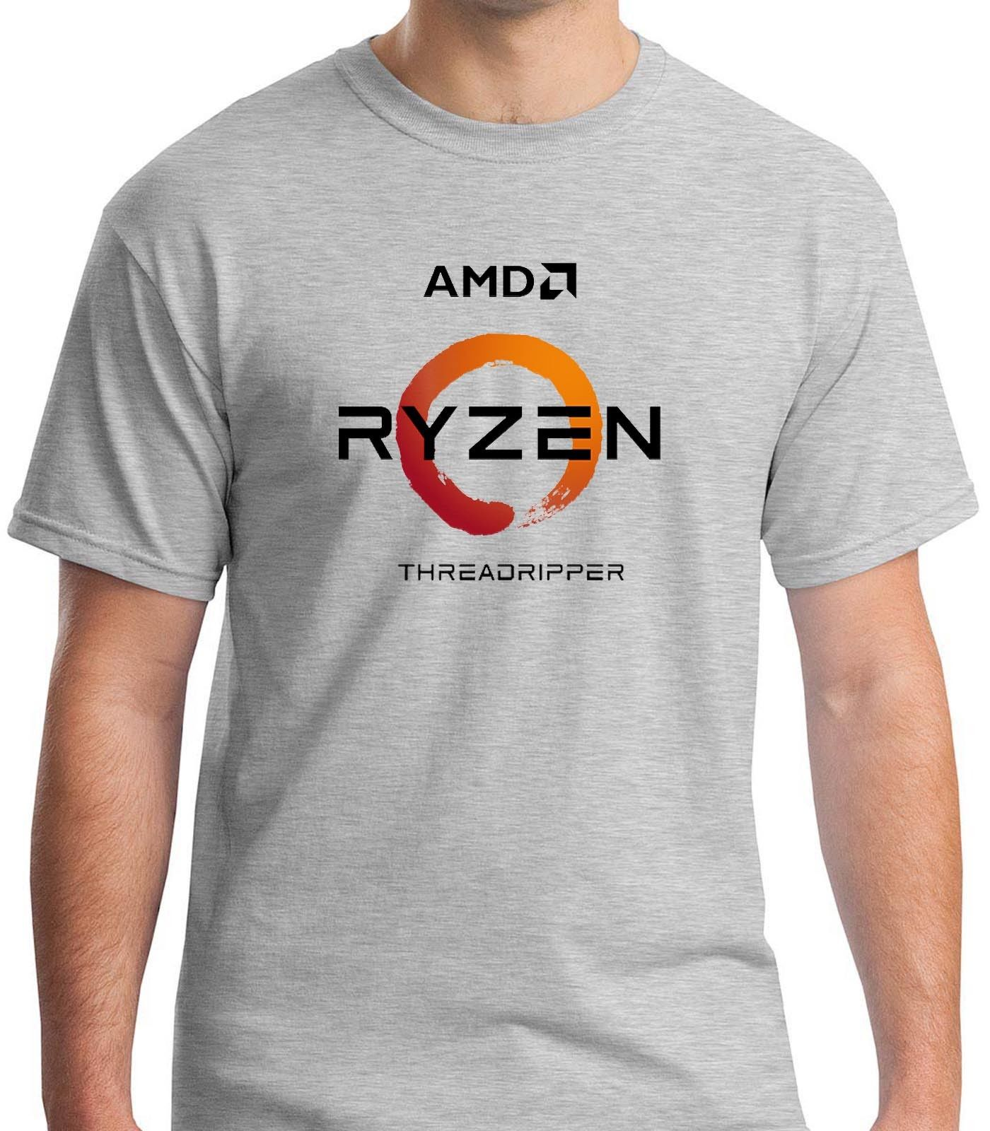 AMD Ryzen Threadripper Processors Grey T-shirt Mens Tshirt S to 3XL