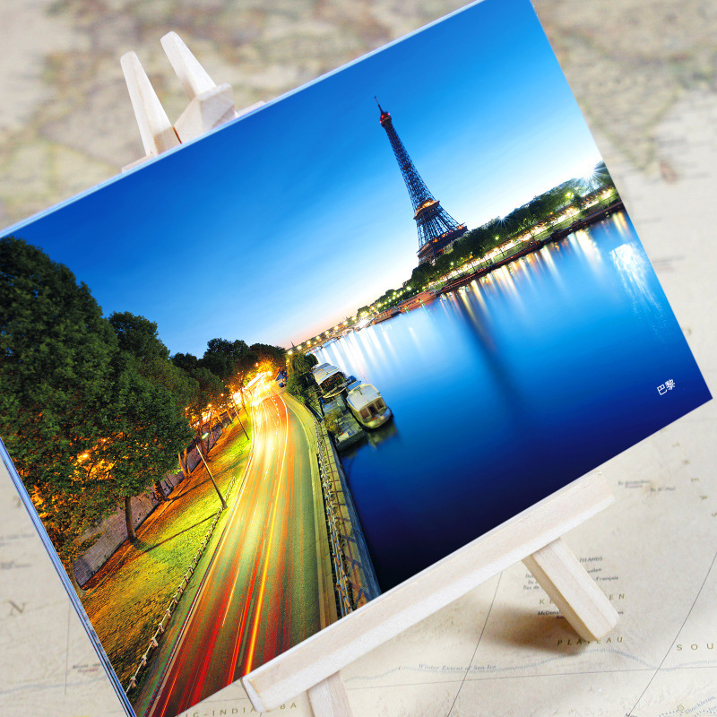 Paris Urban Landscape Postcard /greeting Card/birthday Card/christmas Gifts Good Reputation Over The World Business Cards Office & School Supplies Cheap Price 6pcs/set charming City Series