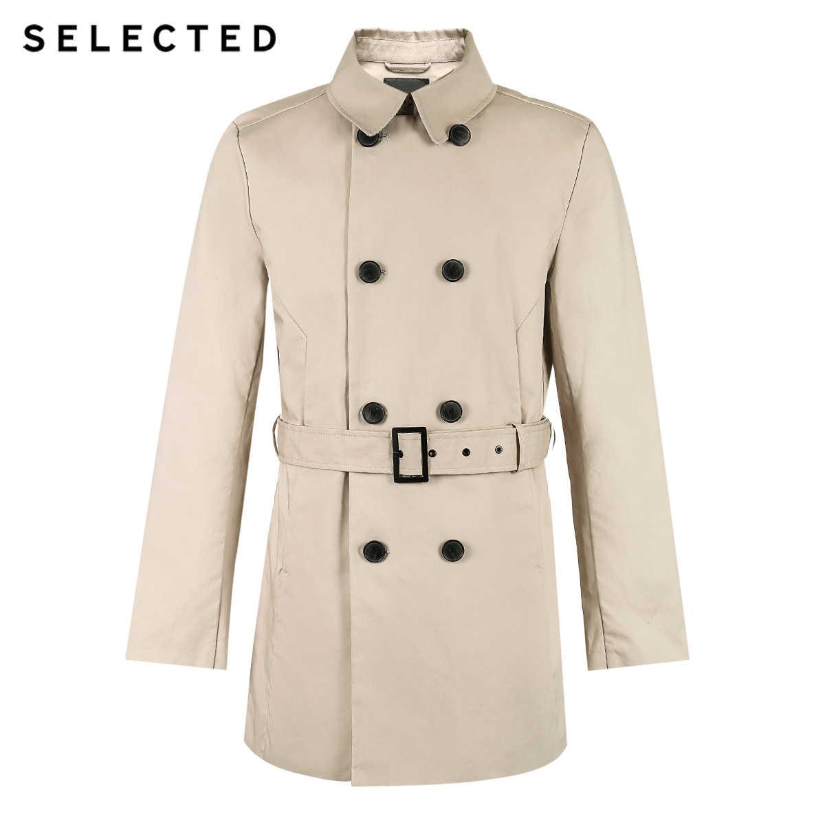 選択新綿ダブルブレストウインドブレーカーファッションマント服ラペルビジネスロングコートメンズジャケット T | 4183OM502