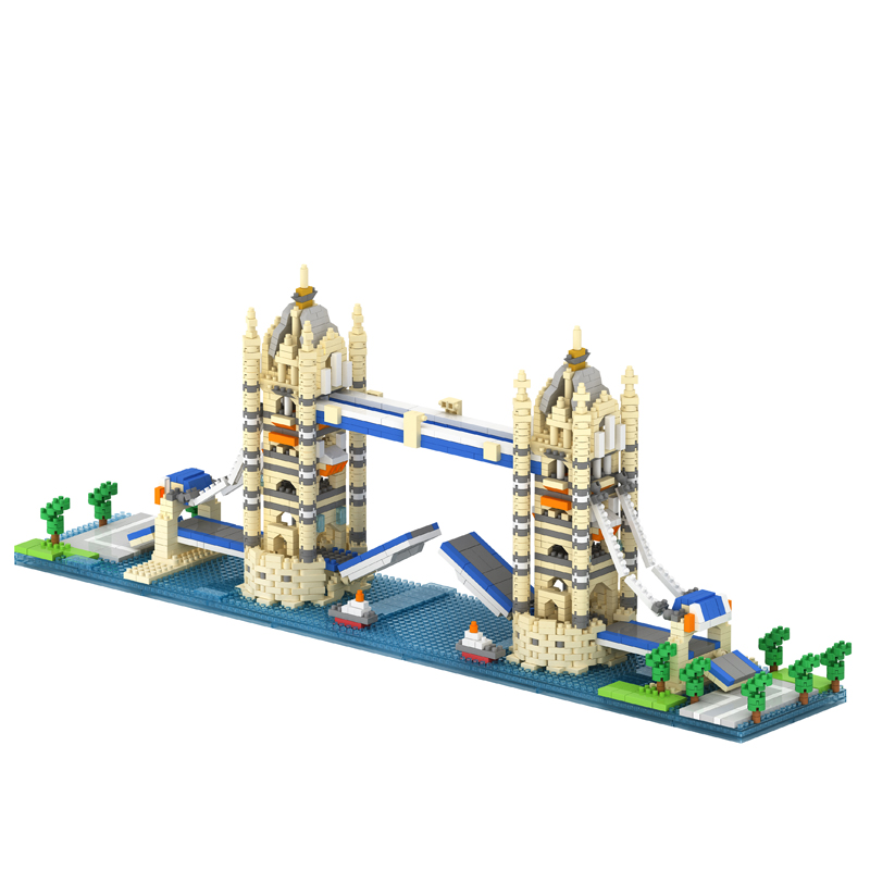 Building Block Tower Bridge Model  Children Compatible Toy 3D Bricks Plastic  Building Blocks Christmas Gift Assembly Toy candice guo cubicfun 3d puzzle diy toy paper building model children gift turkey galata tower world s great architecture c098h