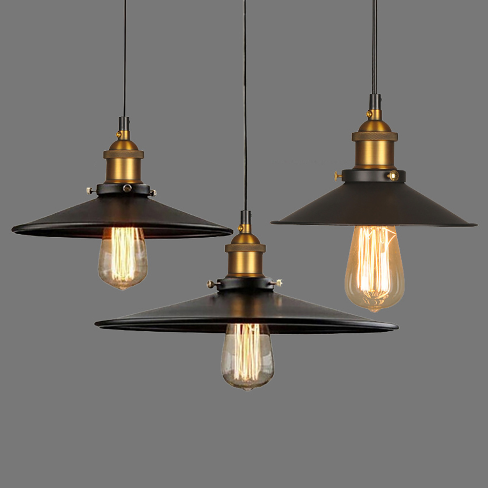 Loft Nordic Simple Pendant Light American Industrial Vintage Hanging Lamp for Bar Counter
