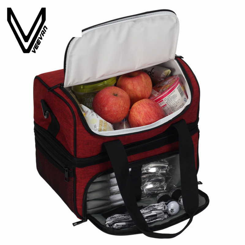 Top Quality Portable Insulated Lunch Bag + GIFTS for Women Large Food Picnic Cooler Box Tote Bag Multifunction Thermal Lunch Bag
