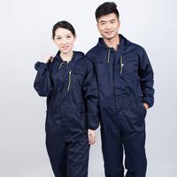Fashion Tooling Style 2019 New One piece Hooded Overalls Auto Repair Welding Spray Paint Clothes Thick Cotton Jumpsuit Male