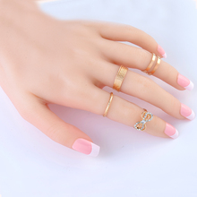 2015New 4Pcs/Set Silver Ring Jewelry  Fashion Top Of Finger Over The Midi Tip Above Knuckle Ajustble For women