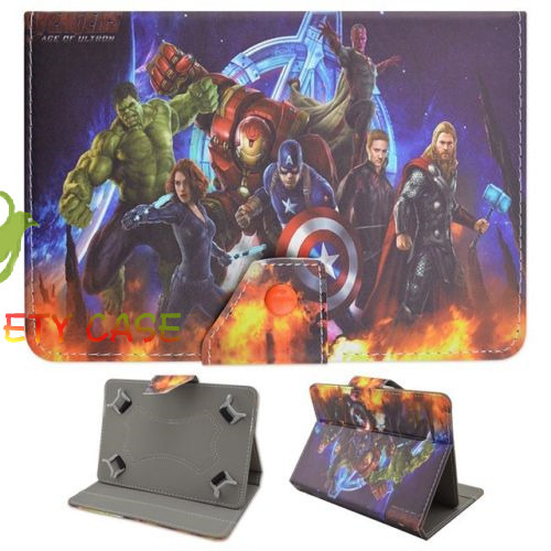 Marvel Super Hero PU Leather Case for 10 1