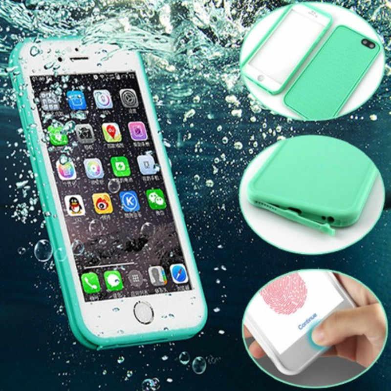 จริงกันน้ำสำหรับ iPhone xr 8 7 Plus 6 6 S Plus ป้องกันฝาครอบภายใต้น้ำกรณีสำหรับ iPhone 5 5 S X XS Max nice