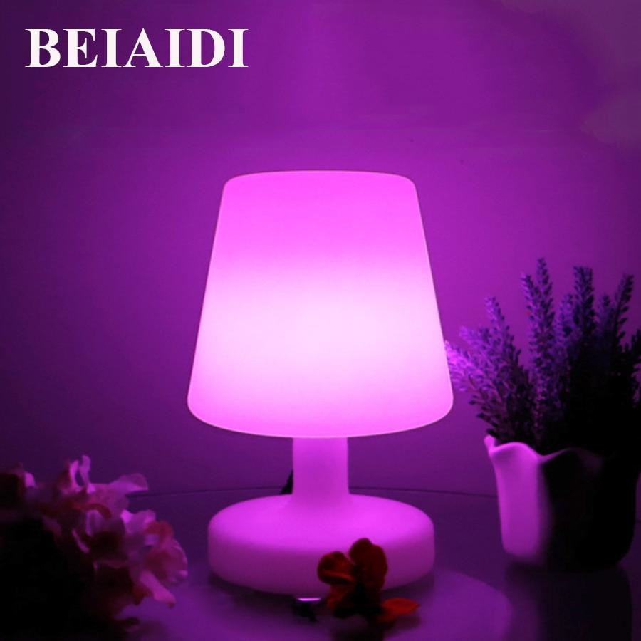 BEIAIDI 16 couleurs RGB LED veilleuse atmosphère humeur Table lampes de bureau IP68 extérieur Camping lumière lampe de chevet bébé lampe de couchage