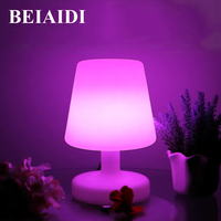 BEIAIDI 16 Color RGB LED Night Light Atmosphere Mood Table Desk Lamps IP68 Outdoor Camping Light